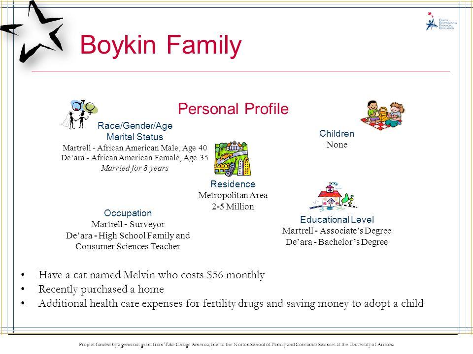 Boykin Family Personal Profile