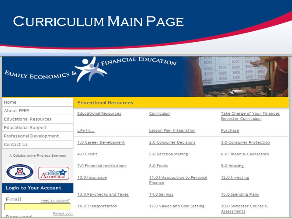 Curriculum Main Page