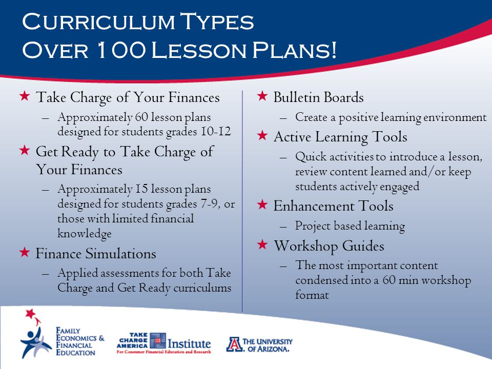 Curriculum Types Over 100 Lesson Plans!