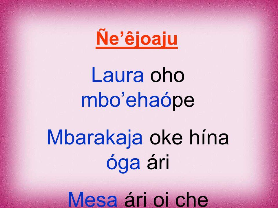 Mbarakaja oke hína óga ári Mesa ári oi che aranduka