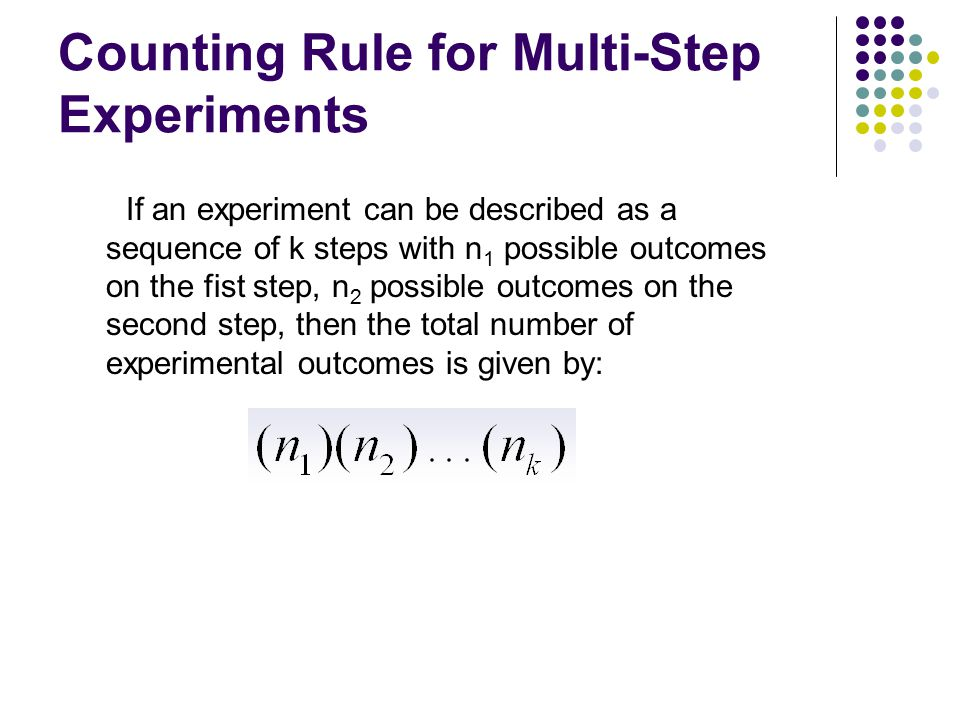 Counting Rule for Multi-Step Experiments