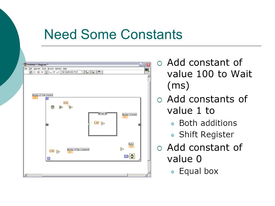 Need Some Constants Add constant of value 100 to Wait (ms)