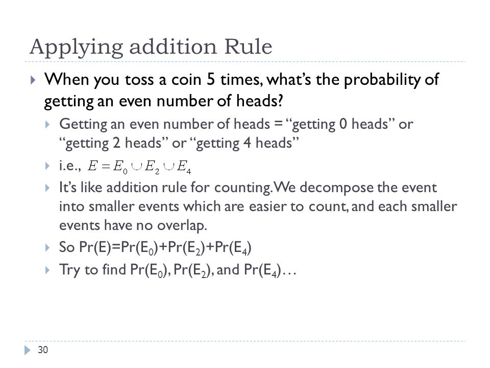 Applying addition Rule