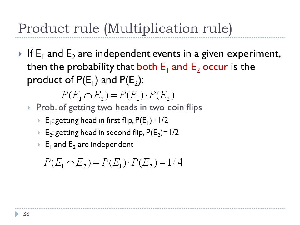 Product rule (Multiplication rule)