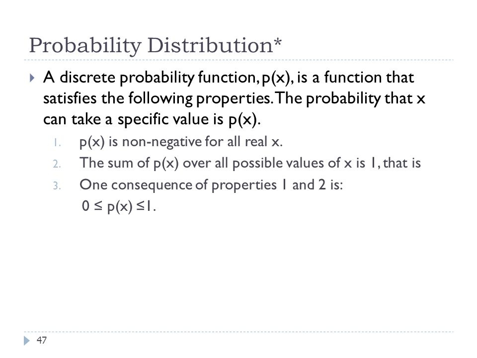 Probability Distribution*