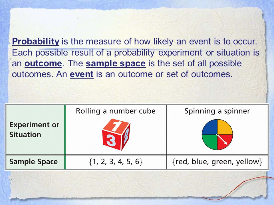 Probability is the measure of how likely an event is to occur