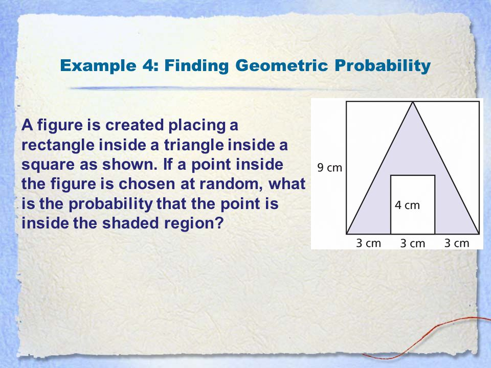 Example 4: Finding Geometric Probability