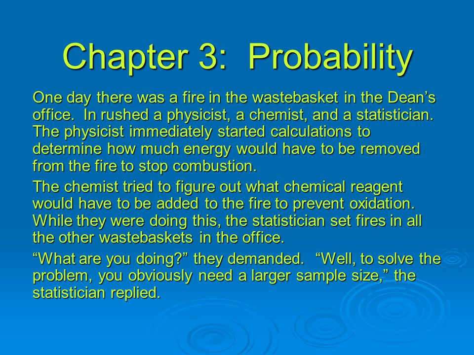 Chapter 3: Probability