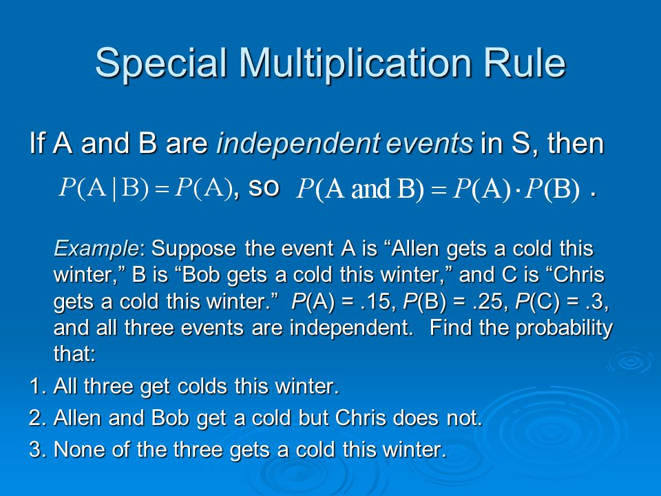 Special Multiplication Rule