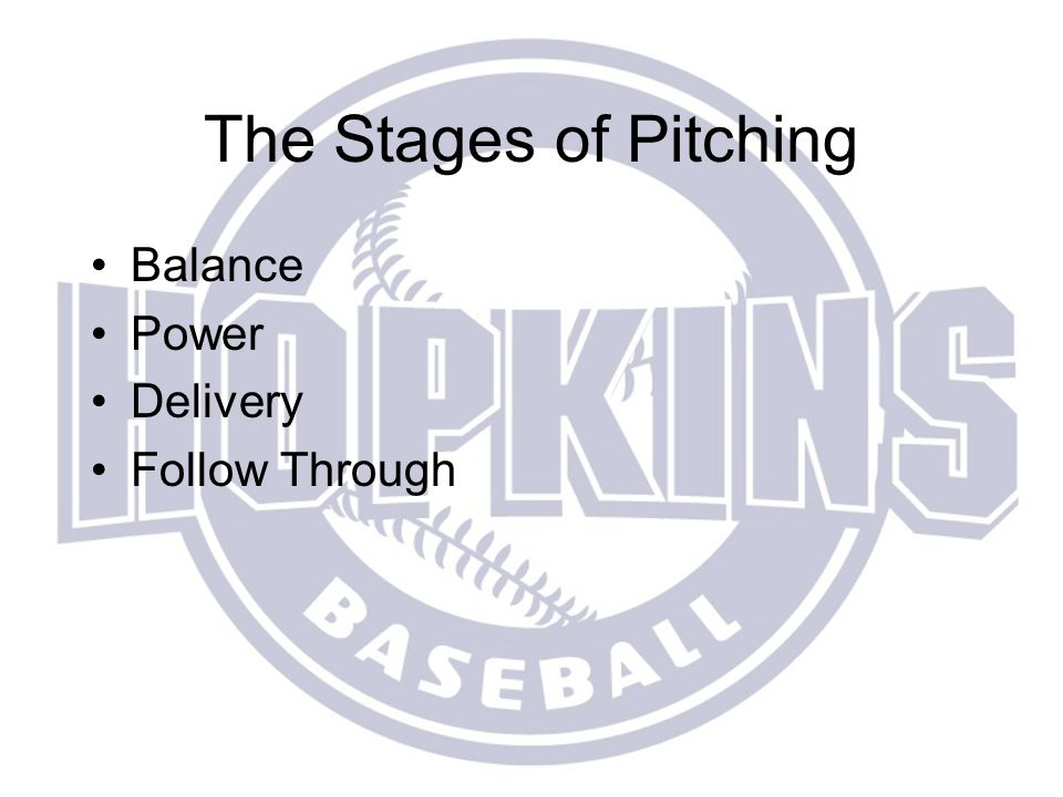 The Stages of Pitching Balance Power Delivery Follow Through
