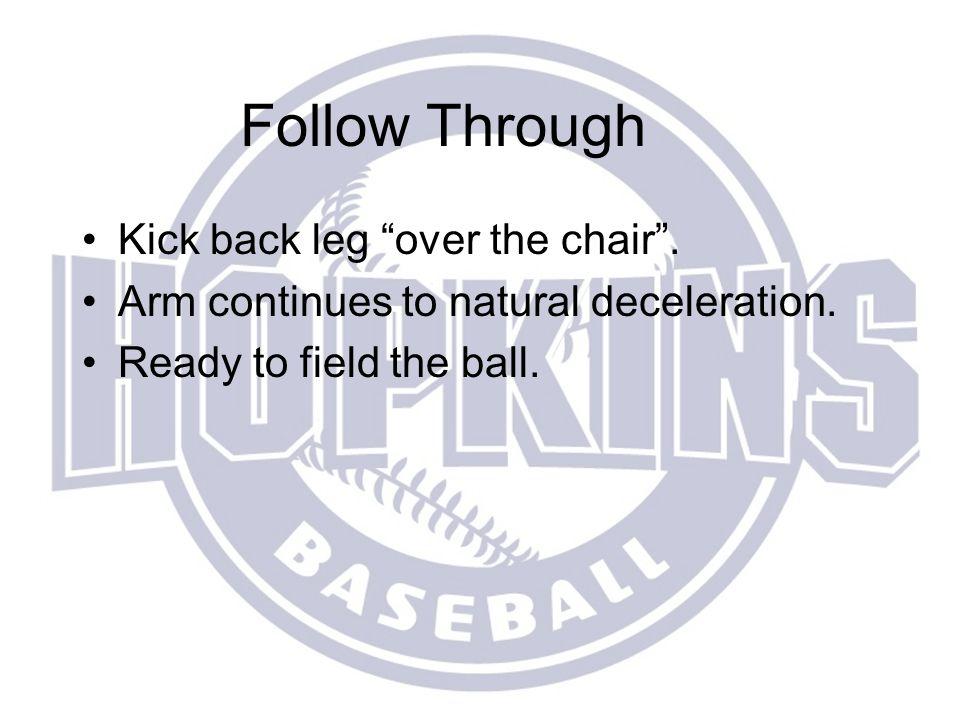 Follow Through Kick back leg over the chair .