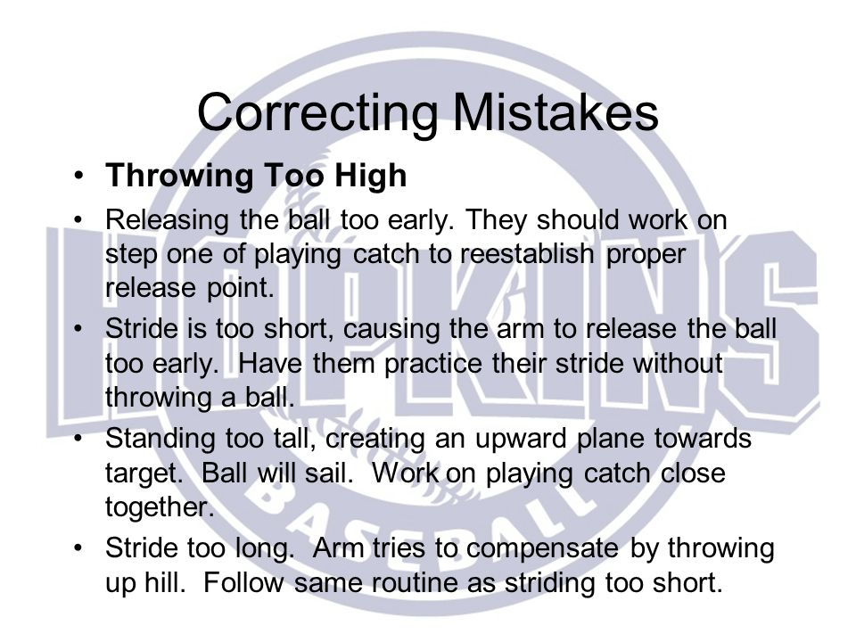 Correcting Mistakes Throwing Too High