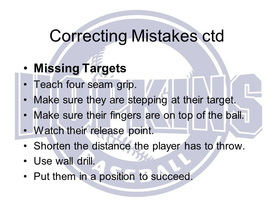 Correcting Mistakes ctd