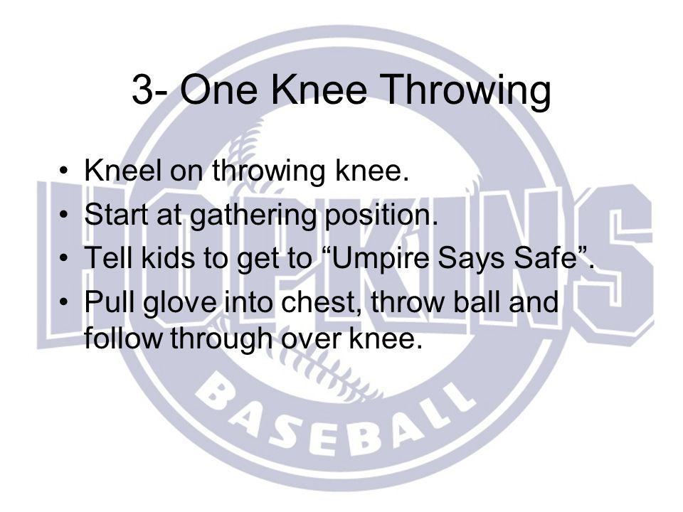 3- One Knee Throwing Kneel on throwing knee.