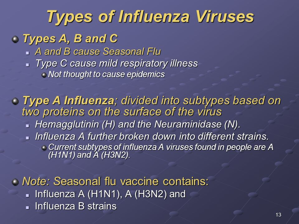 different influenza viruses Click to launch & play an online audio visual presentation by prof peter palese on influenza virus pandemics: past and future, part of a collection of online lectures.