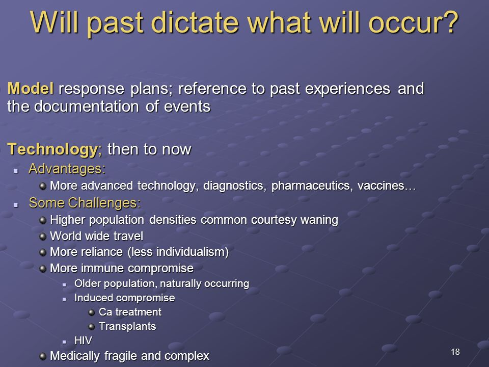 Will past dictate what will occur