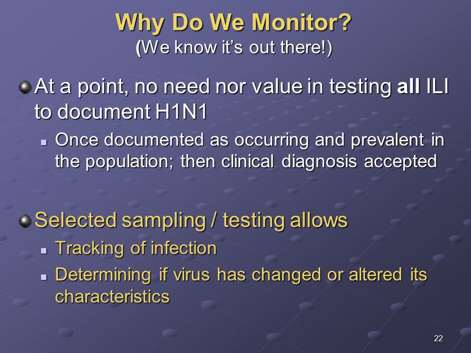 Why Do We Monitor (We know it's out there!)