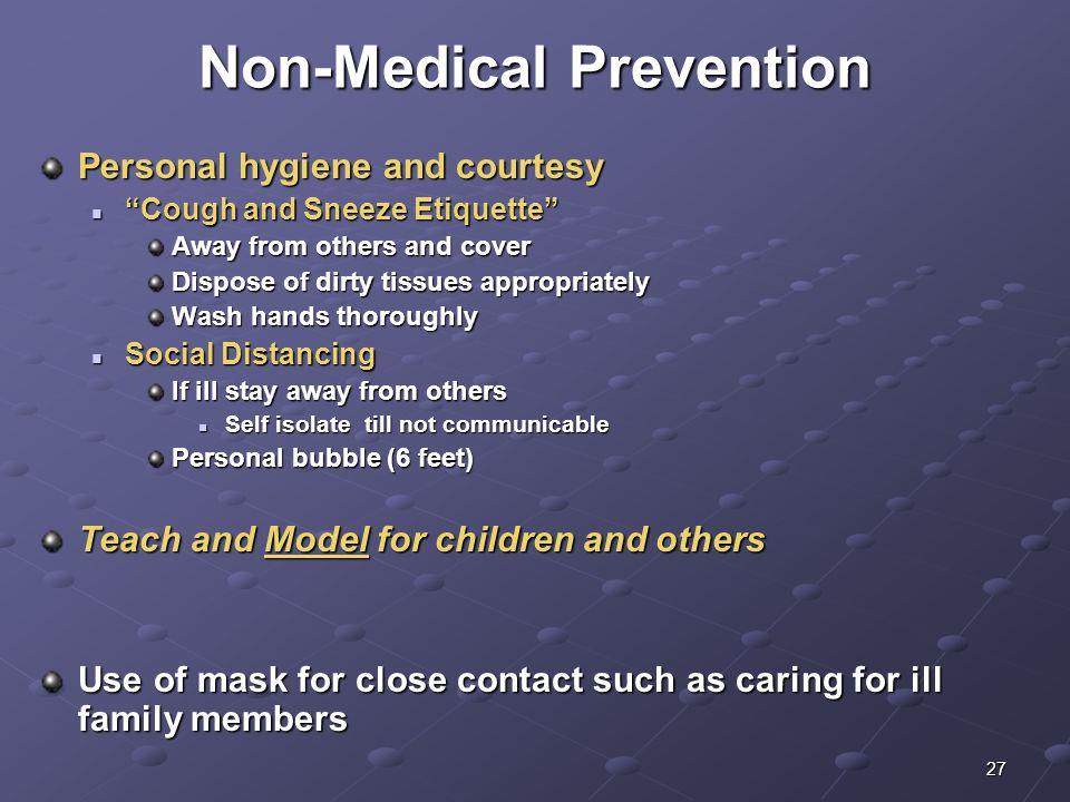 Non-Medical Prevention