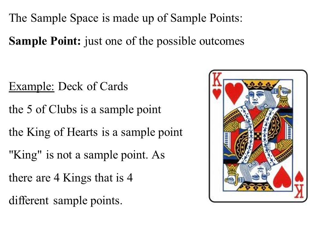 The Sample Space is made up of Sample Points:
