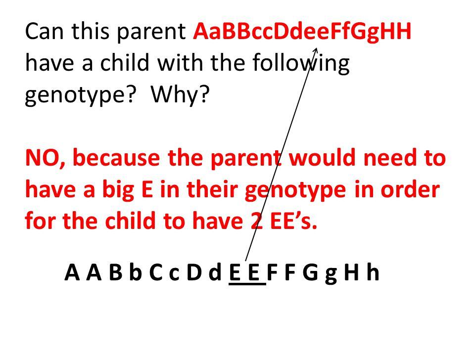 Can this parent AaBBccDdeeFfGgHH
