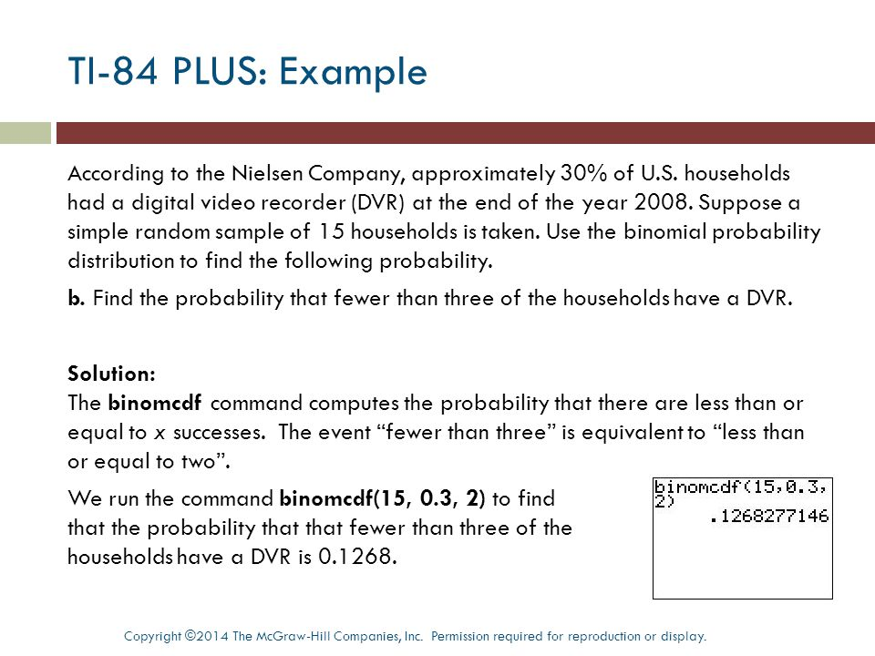 TI-84 PLUS: Example