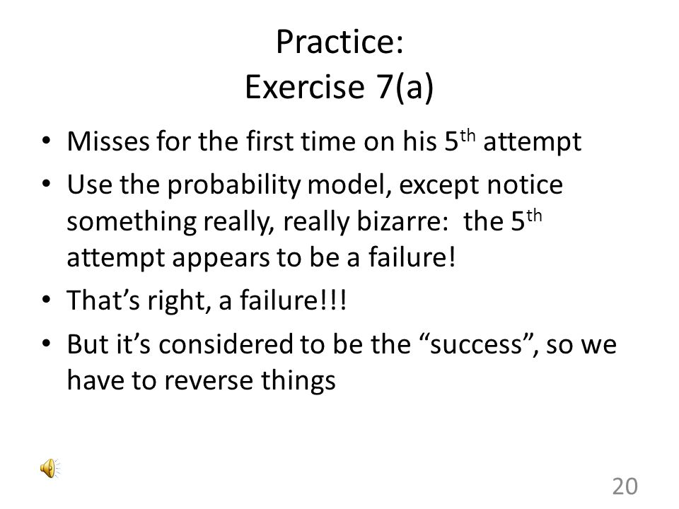 Practice: Exercise 7(a)