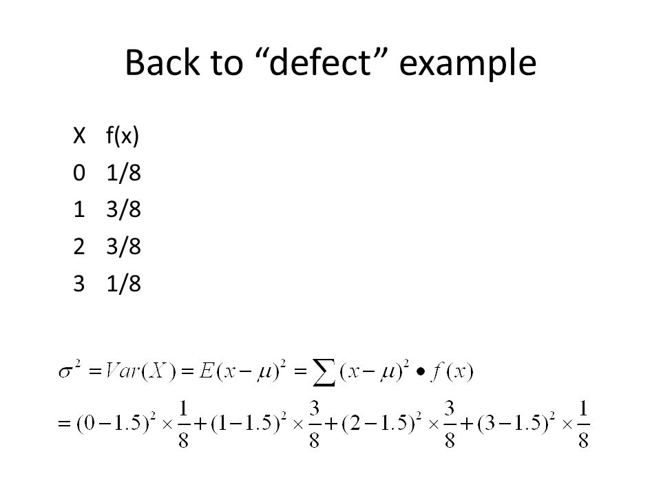 Back to defect example