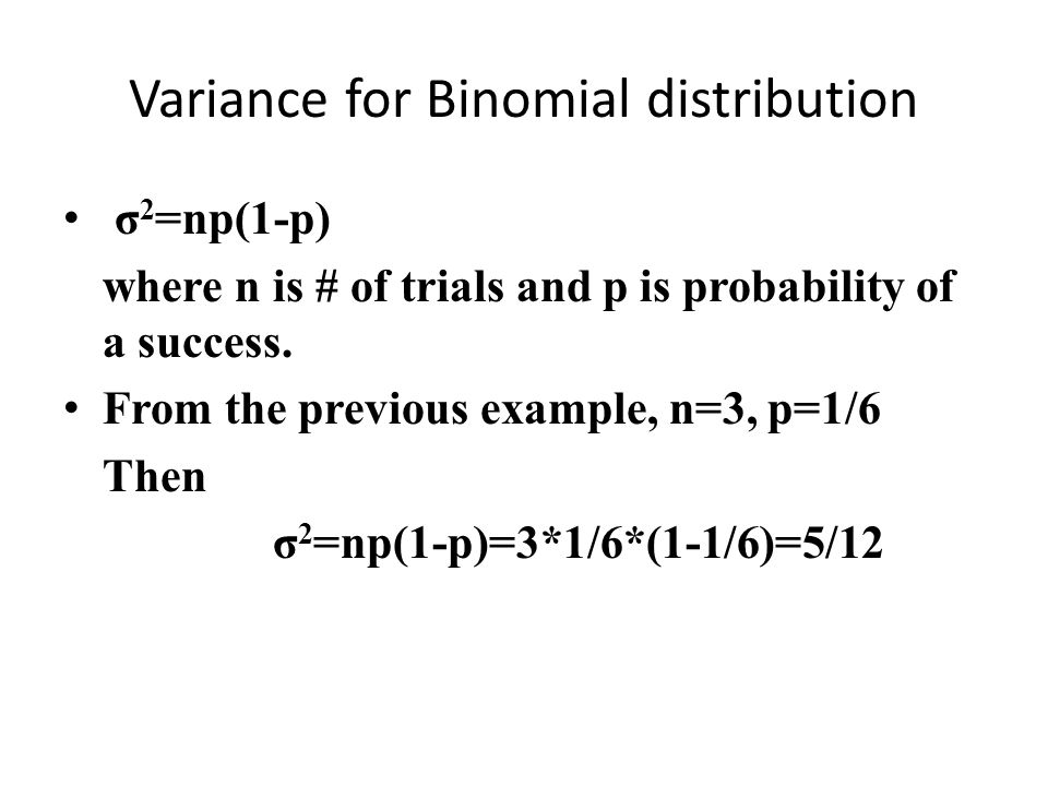 Variance for Binomial distribution
