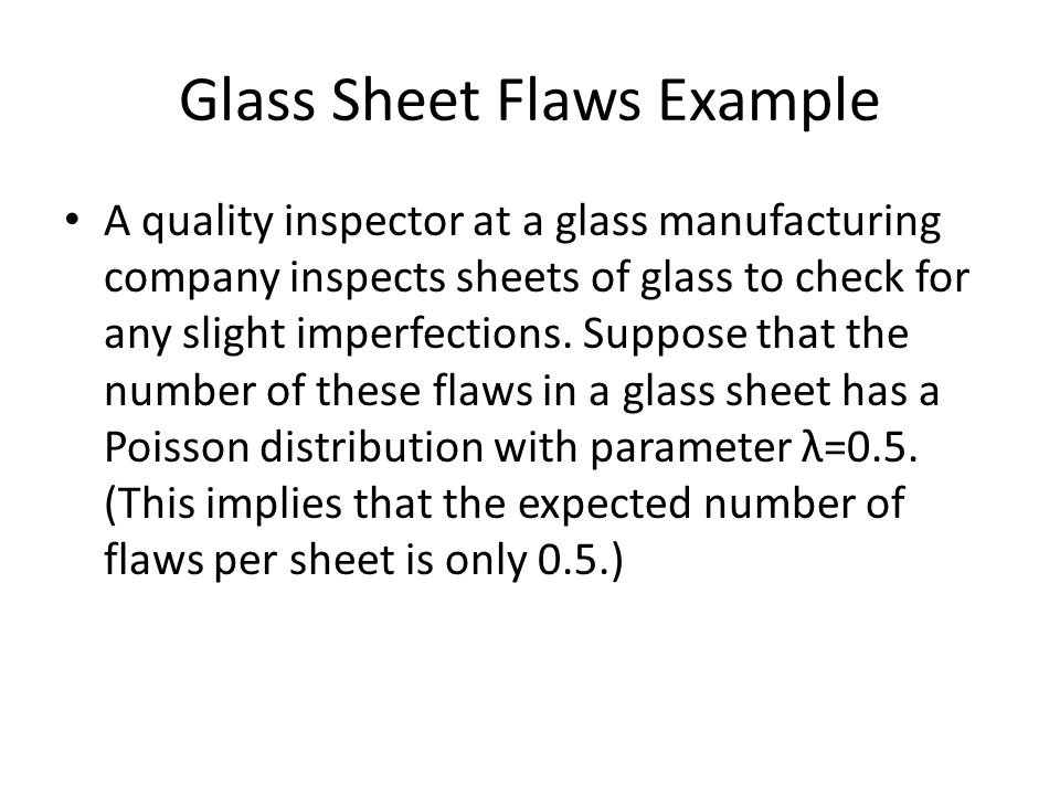 Glass Sheet Flaws Example