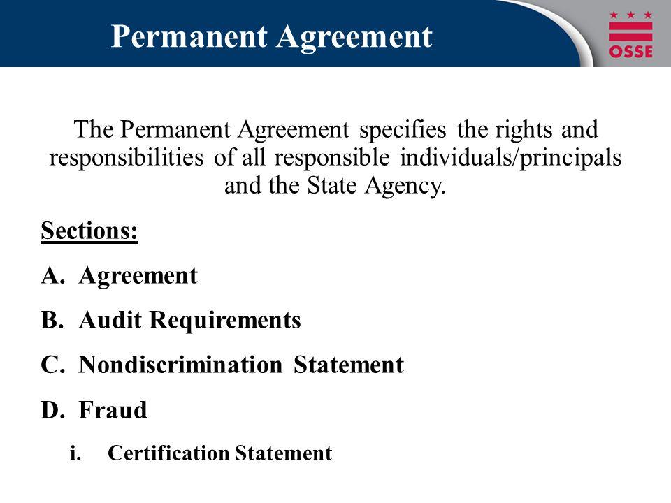 Permanent Agreement
