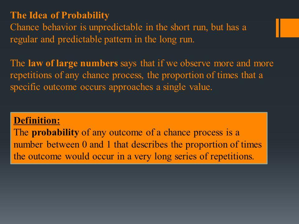 The Idea of Probability