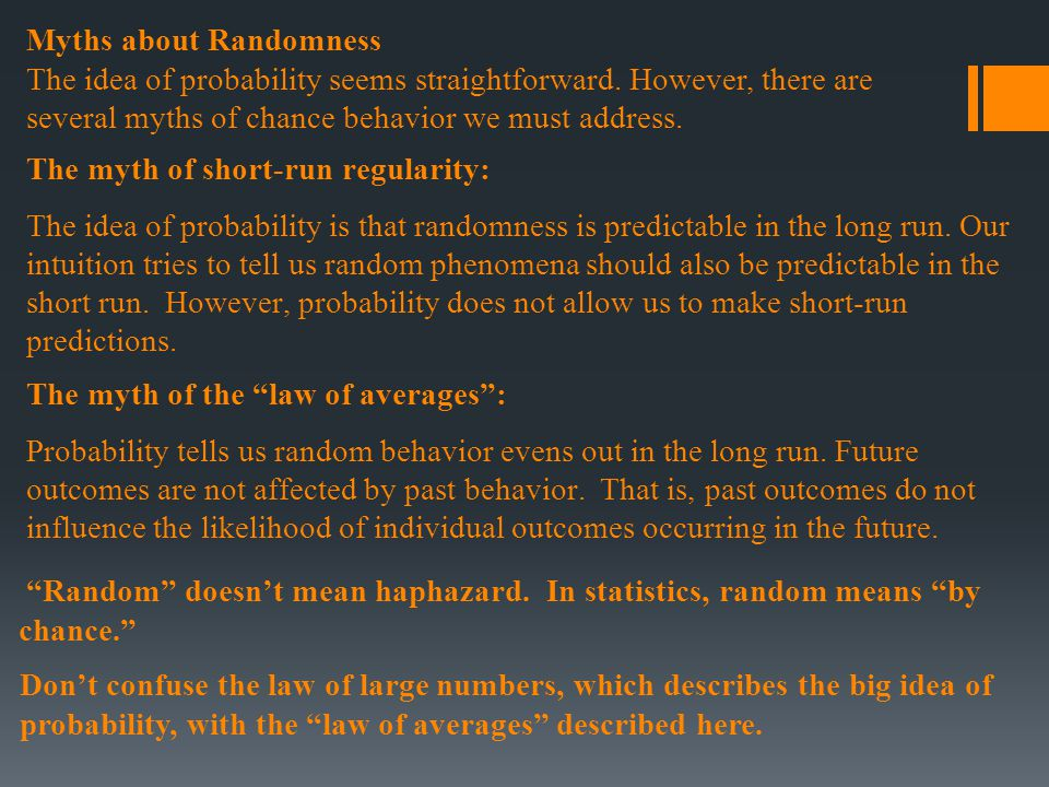 Myths about Randomness