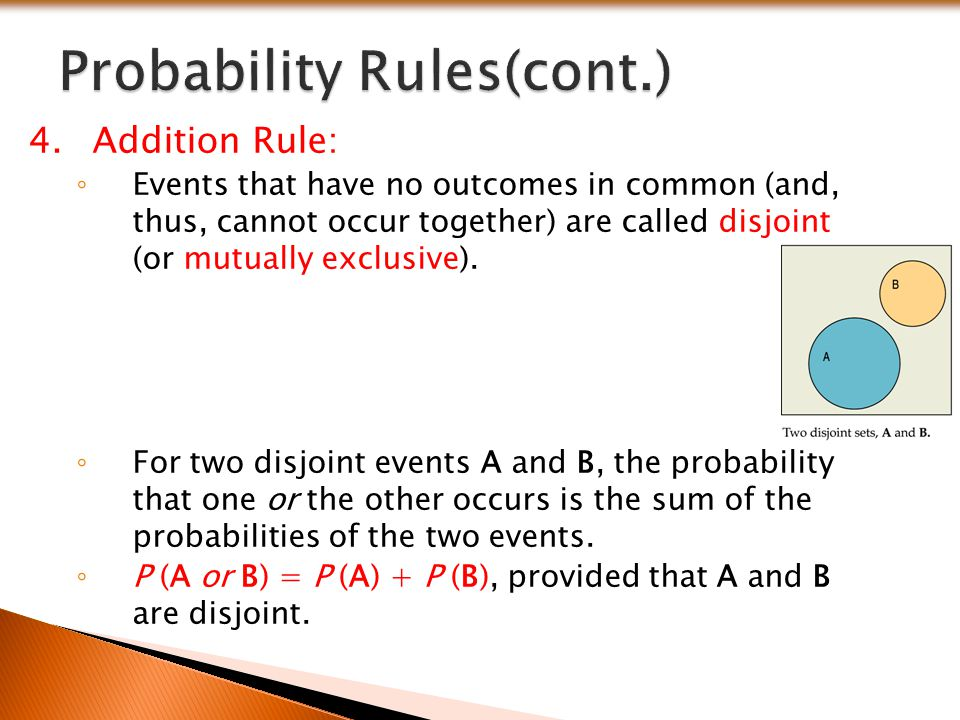 Probability Rules(cont.)