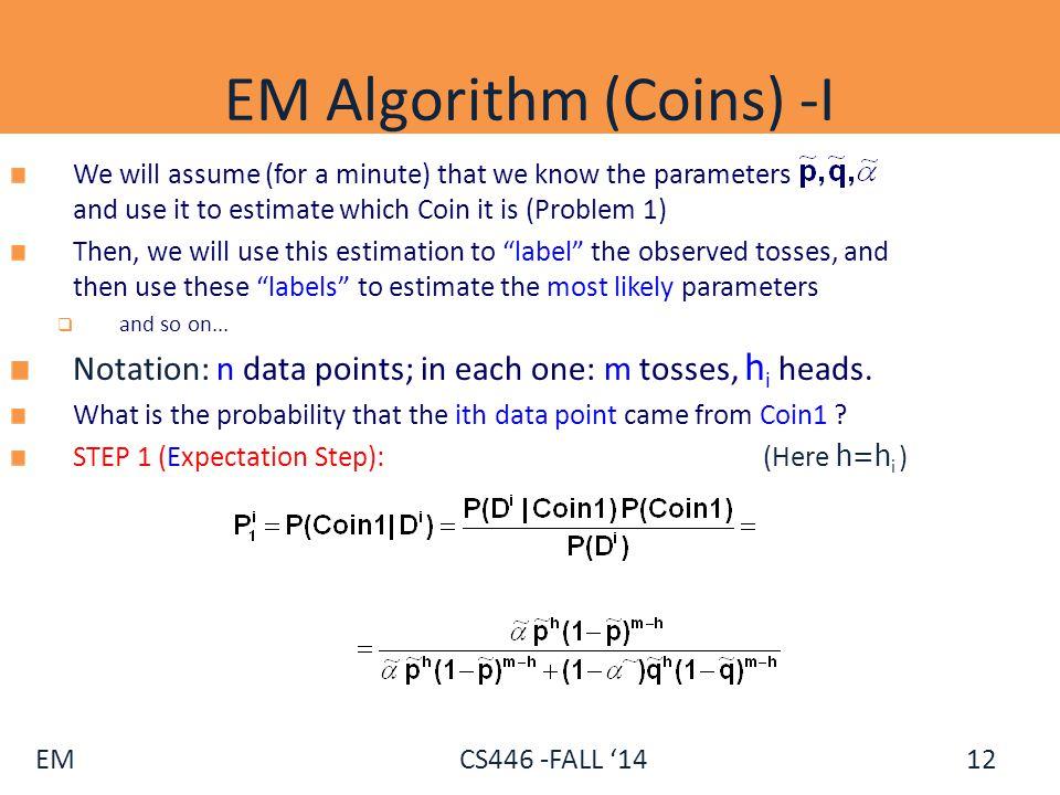 EM Algorithm (Coins) -I