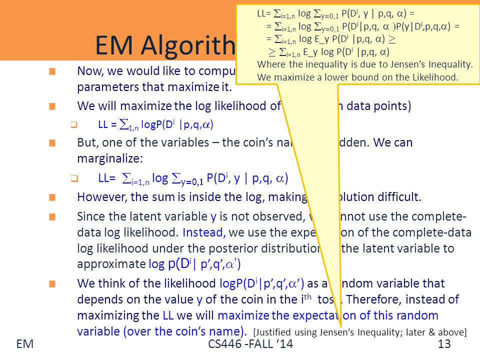 EM Algorithm (Coins) - II