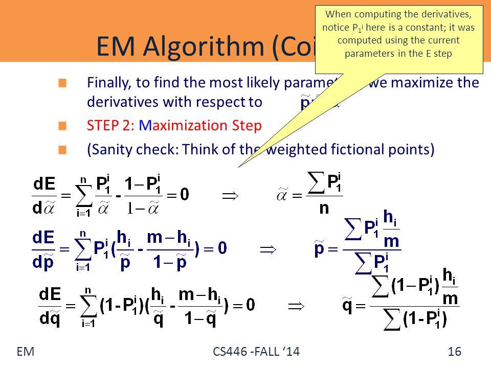 EM Algorithm (Coins) - V