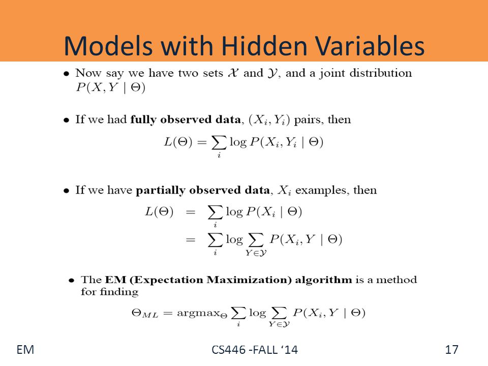 Models with Hidden Variables