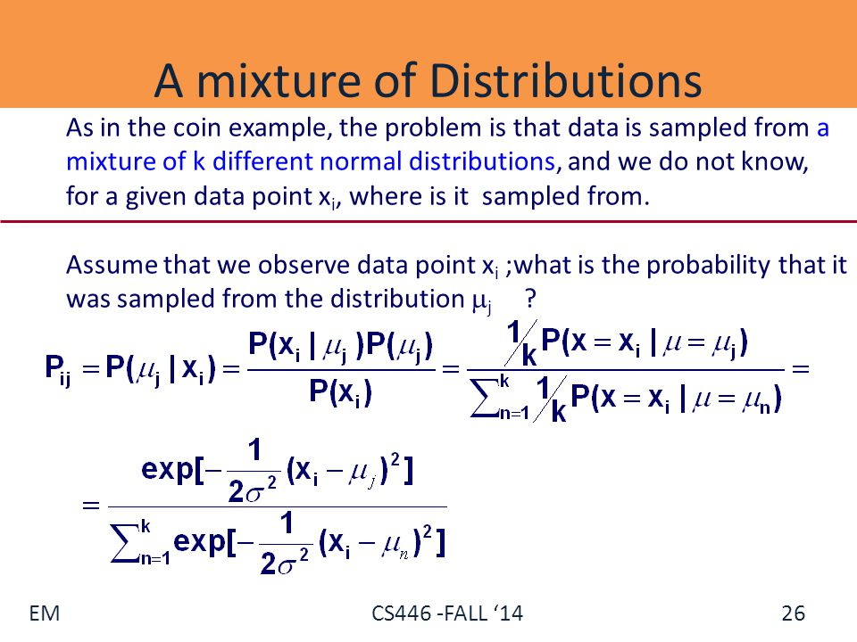 A mixture of Distributions