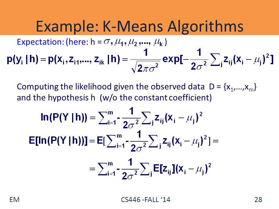 Example: K-Means Algorithms