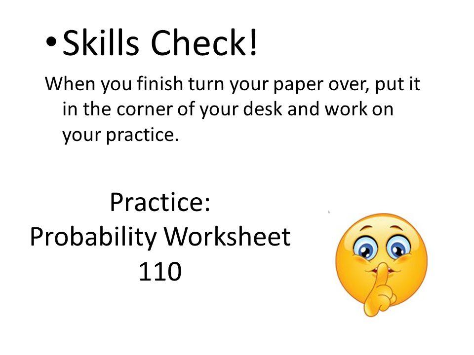 Probability Worksheet 110