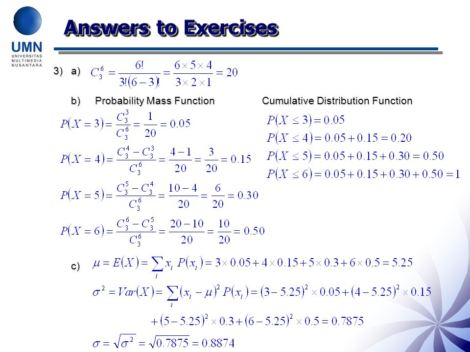 Answers to Exercises 3) a)