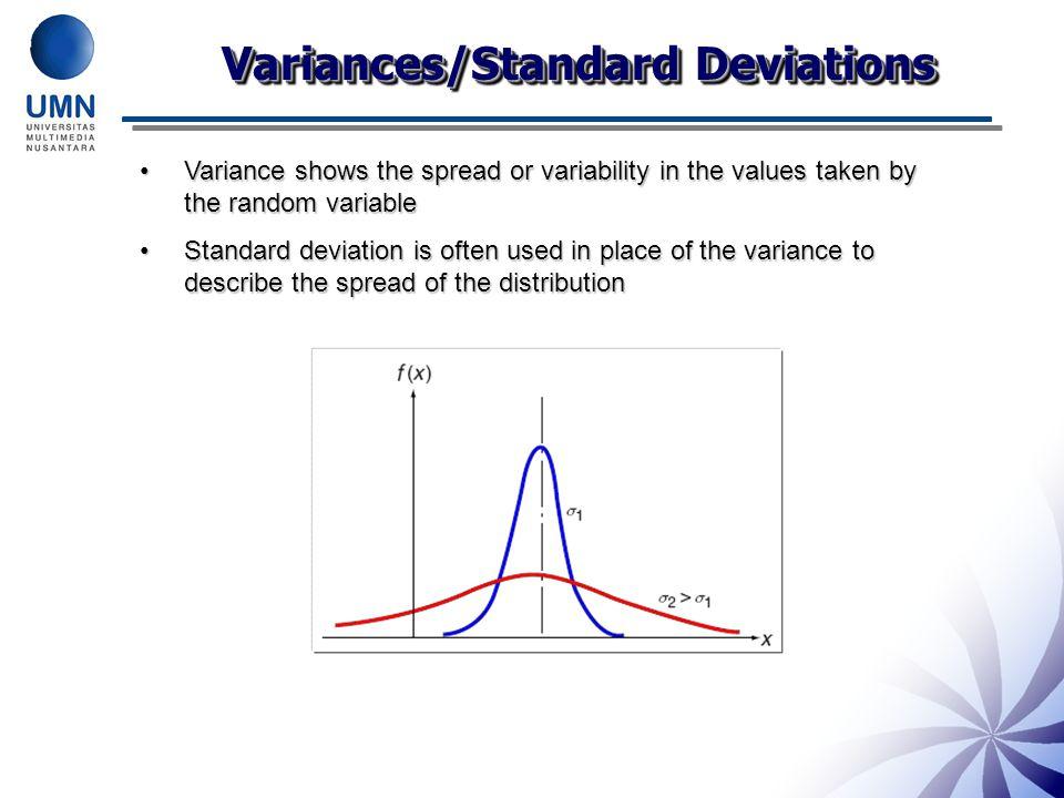 Variances/Standard Deviations