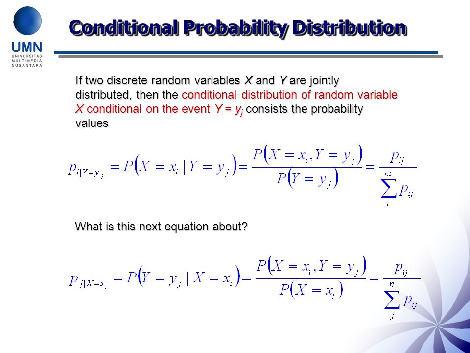 Conditional Probability Distribution