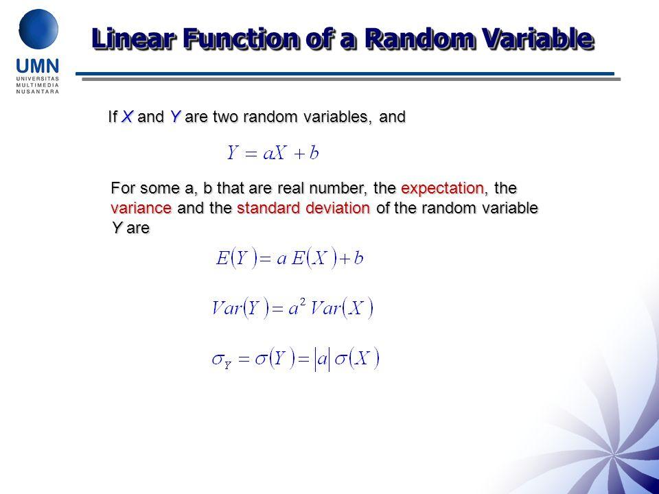 Linear Function of a Random Variable