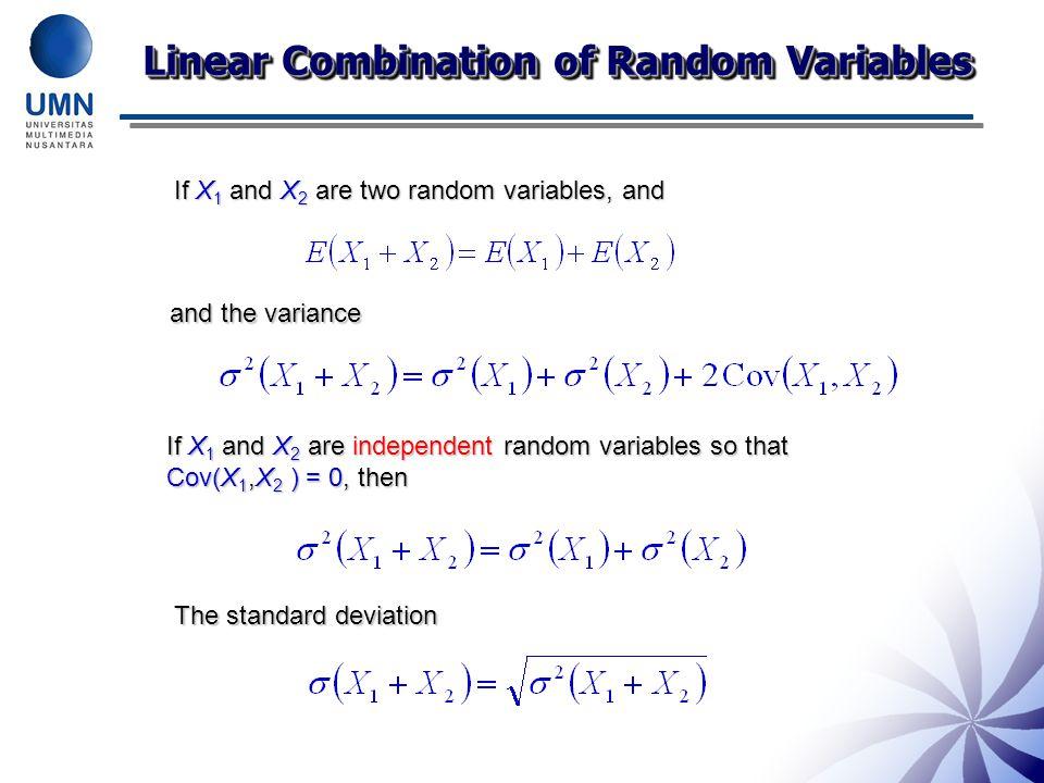 Linear Combination of Random Variables
