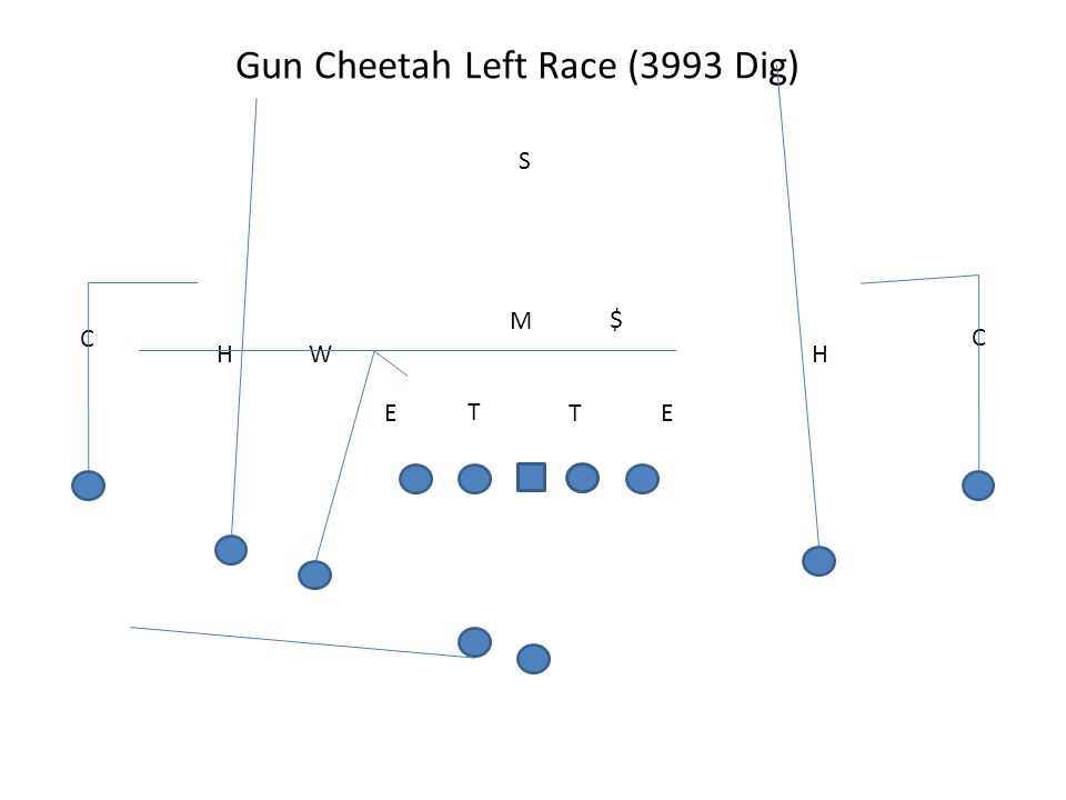Gun Cheetah Left Race (3993 Dig)