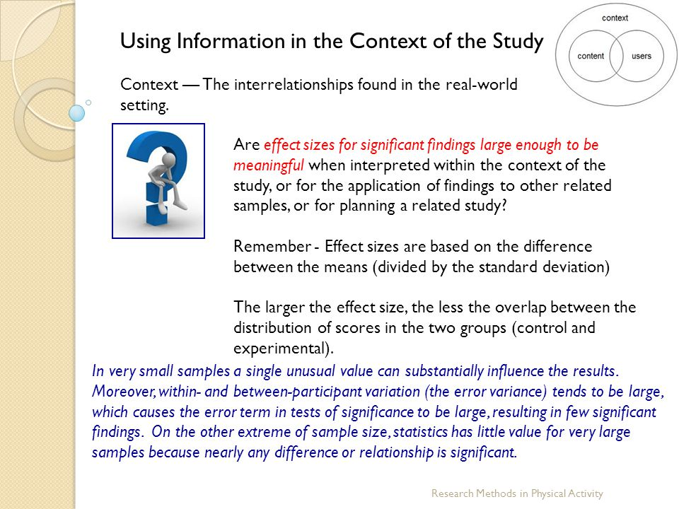Using Information in the Context of the Study
