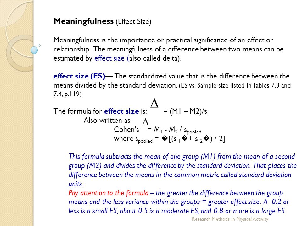 Meaningfulness (Effect Size)