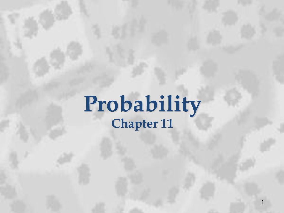 Probability Chapter 11 1