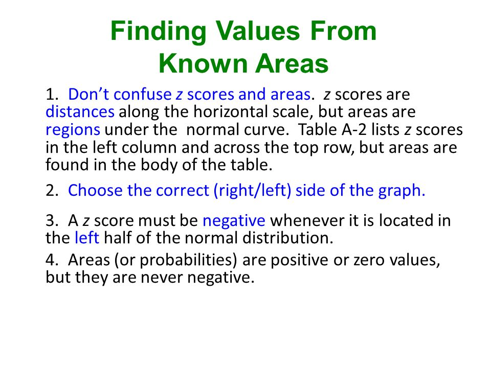 Finding Values From Known Areas